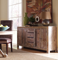 Hampton Rustic Teak Wood Buffet Sideboard with 4 Door 4 Drawers