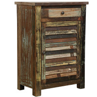 Shabby Chic 1 Drawer 1 Door Cabinet