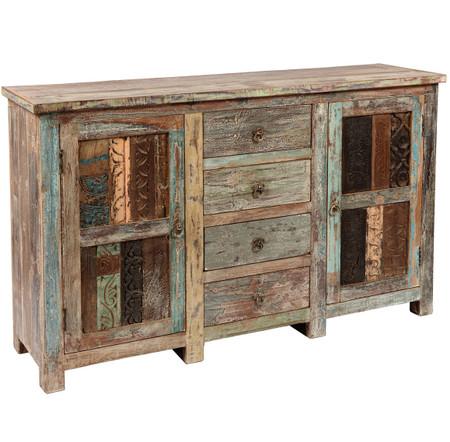 shabby chic vintage 4 door sideboard. Black Bedroom Furniture Sets. Home Design Ideas
