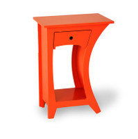 Curved Side Table-Reversible with Drawer