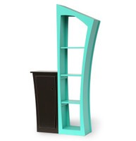 Reversible Stacked Bookcase and Base Cabinet