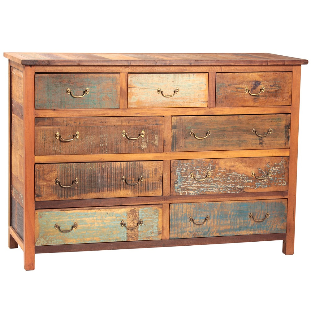Shabby Chic 9 Drawer Dresser Zin Home