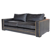 "Patrizia 87"" Leather Sofa"