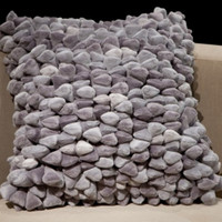 Pebble Chamois Pillow-Stone