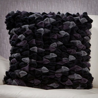 Pebble Chamois Pillow-Charcoal