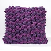 Pebble Chamois Pillow-Grape