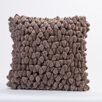 Pebble Chamois Pillow-Cinder