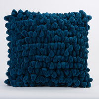 Pebble Chamois Pillow-Moroccan Blue