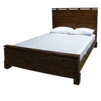 Angora Wood Queen Platform Bed-Acorn