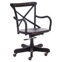 Union Square Antique Black Office Chair