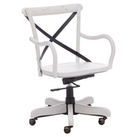 Union Square Antique White Office Chair