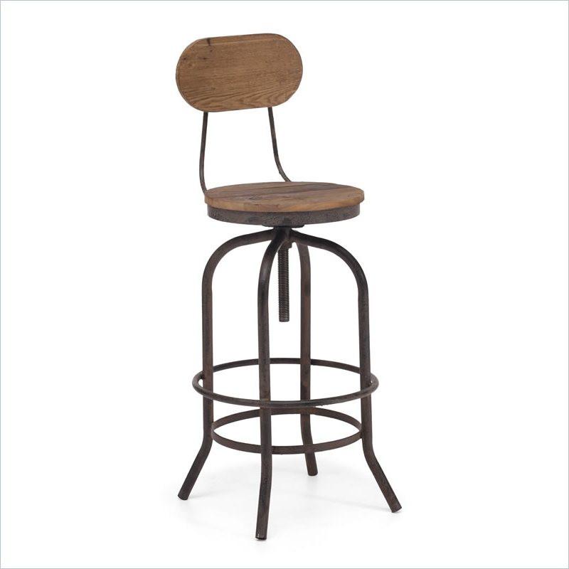 peaks industrial bar chair zin home