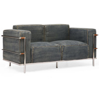 Colins Blue Denim Love Seat