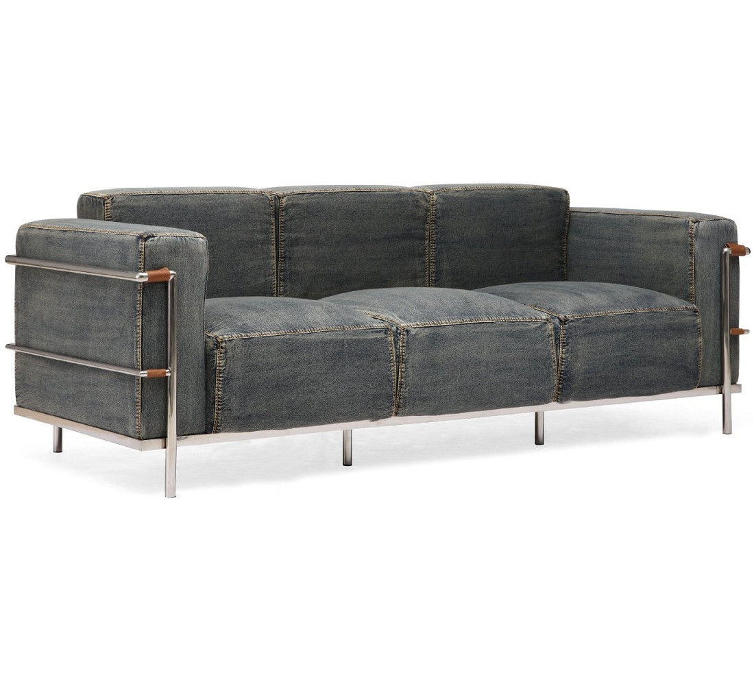 Colins blue denim sofa zin home Denim couch and loveseat