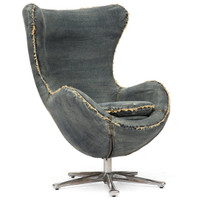 Collins Blue Denim Egg Arm Chair