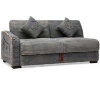 Colins Denim Sleeper Sectional Sofa