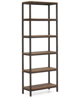 Civic Wood and Metal Bookshelf
