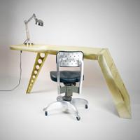 Aviator Airfoil Desk - Brass