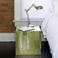 Deco Crate Side Table - Brass