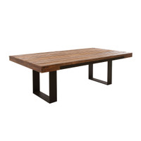 """Graham Industrial Reclaimed Wood Dining Table 93"""""""