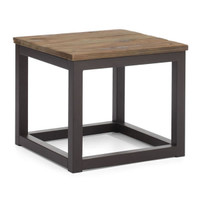 Civic Wood and Metal End Table
