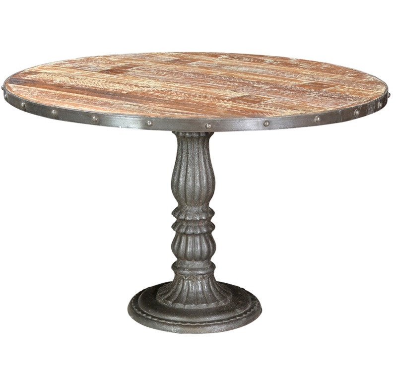 Home FURNITURE Dining Room French Soda Fountain Round Table 47