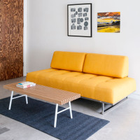 Gus Modern James Lounge Sleeper Sofa Laurentian Citrine