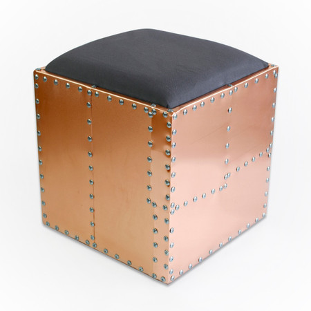 Home Furniture Living Room Ottomans Aviator Aeromen Ottoman Copper