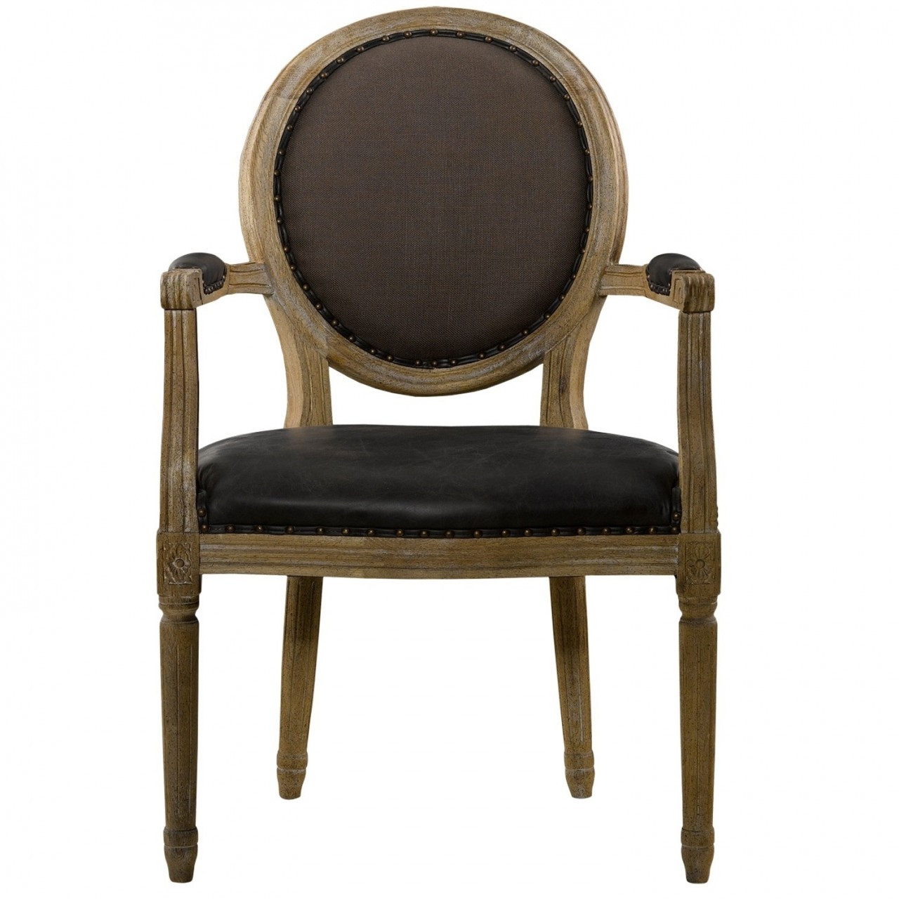 Home FURNITURE Dining Room Louis Dining Chair in Brown Leather