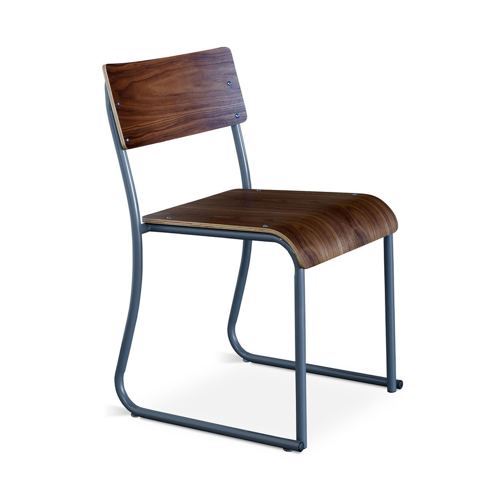 Gus modern church plywood stackable dining room chair zin home