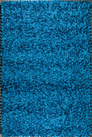 Shimmer Modern Area Rug in Steel Blue