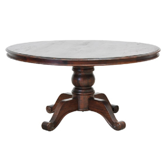 60inch round pedestal dining table brown wood round dining table