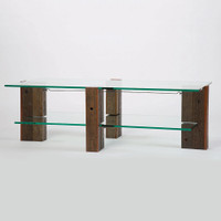 Burnet Coffee Table with Glass Top