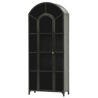 Shadow Box Industrial Curio Cabinet