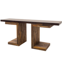 George Mixed Reclaimed Wood Console Table