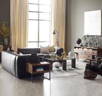 Nolita Saddle Black Leather Modular Sectional Sofa