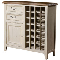 Cottage Wine Cabinet-White