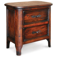 Royalty Solid Wood 2 Drawer Nightstand