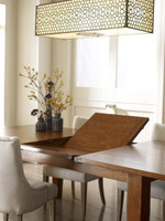 "Coastal Rustic Extending Dining Table 71"""