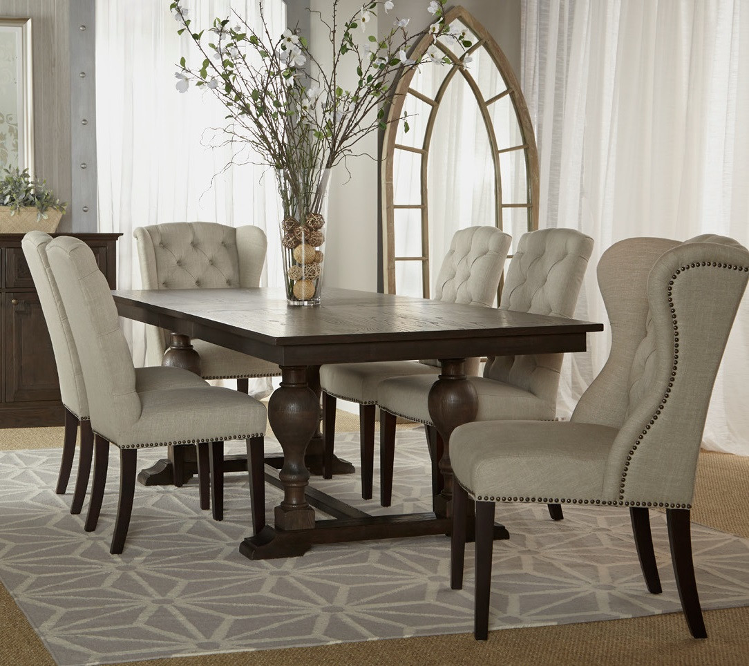 Astor double trestle extension dining table 96 zin home for Dining room tables 96