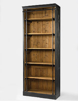 French Library Single Bookcase-Black