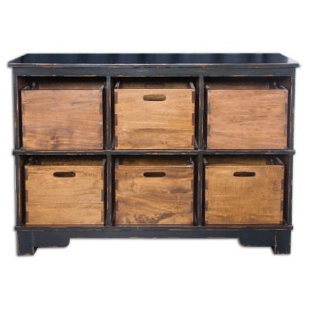 Ardusin Solid Wood 6 Cubby Storage Zin Home
