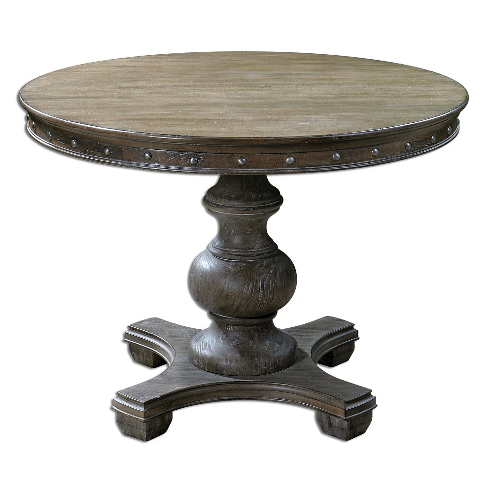 Sylvana round pedestal kitchen table 42 zin home for Pedestal table