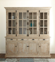 Chateau Hutch Cabinet- Antique White