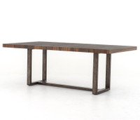 Warren Dining Table With Wrought Iron Base