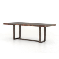 Harrison Dining Table With Wrought Iron Base