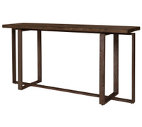 Brant Console Table With Wrought Iron Base