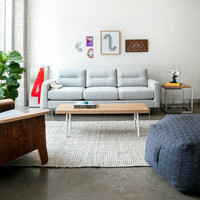 Gus Modern Logan Sofa Oxford Quartz