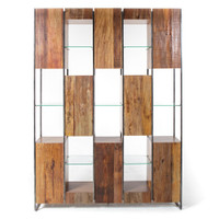 Marley Solid Reclaimed Wood Large Bookcase