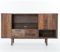 Mick Rustic Wood High TV Media Cabinet